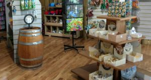 Gift shop at the Living Rainforest, with rainforest-themed gifts and educational toys & games.