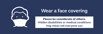 face coverings be considerate